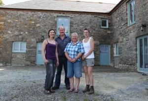 Gemma, Jimmy, Sheila and Pip Kempthorne