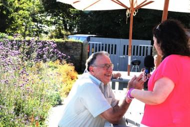 Tiffany Truscott interviewing Ray Lyne at Kestle Barton