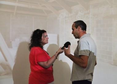 Tiffany Truscott interviewing Chris Hosken at Kestle Barton