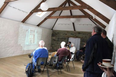 Watching films at RoseHip Barn