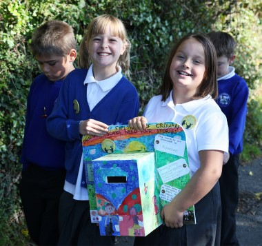 Roxxi and Marnie delivering one of the story-collection boxes