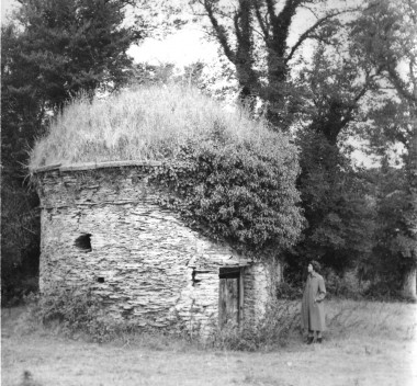 Mays sister Gwen by Trevanion Culverhouse before it was restored by the Cornwall Heritage Trust