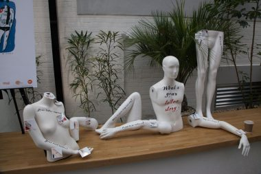 Our display on Mannequins to help attract people